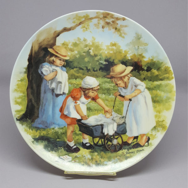 "Vintage Collectible Plate, ""Office Hours"" by Jeanne Down, Friends I Remember Series  c. 1980s - 2aEmporium"