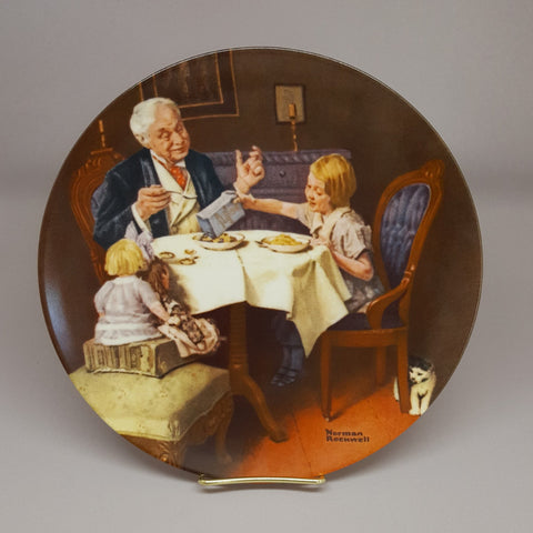 Norman Rockwell Collectible Plate, The Gourmet, Vintage Collectible Plate, Fine China, Edwin M Knowles, Gift Idea - 2aEmporium