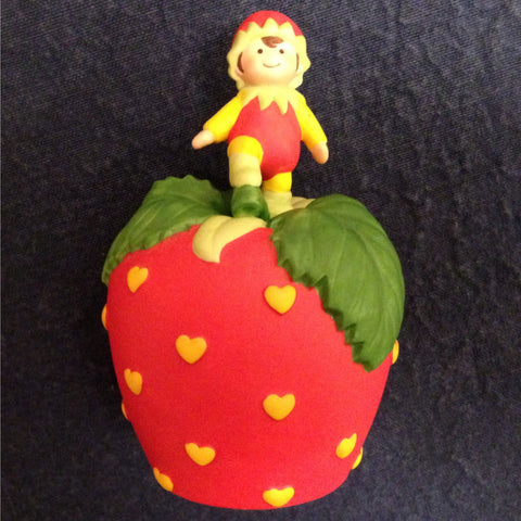 Vintage Avon Collectible Bell, Porcelain Strawberry Bell  c. 1993 - 2aEmporium