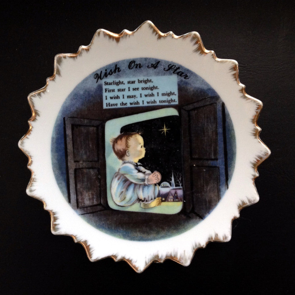 "Vintage Collectible Plate, ""Wish Upon A Star"" - 2aEmporium"