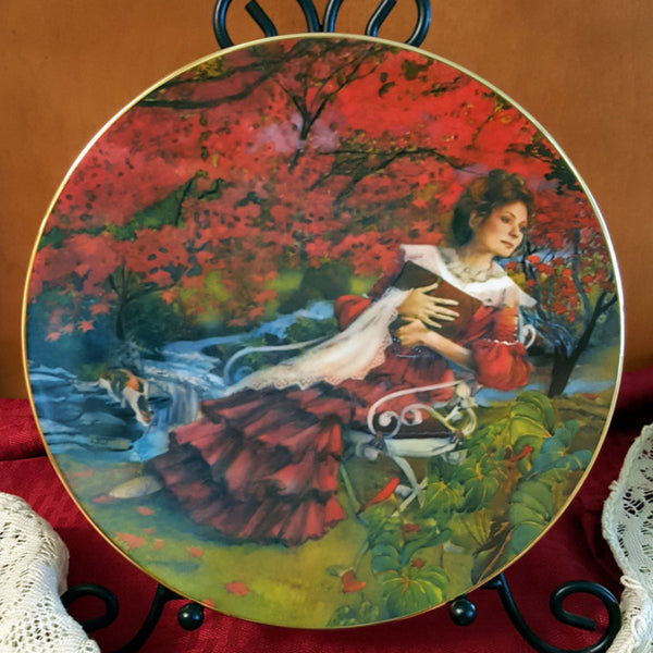 """Alaina"", Vintage Collectible Plate, How Do I Love Thee Series by Rob Sauber c. 1982 - 2aEmporium"