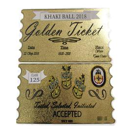 *Bulk Orders Only*  CUSTOM  FY 21 Khaki Ball Tickets