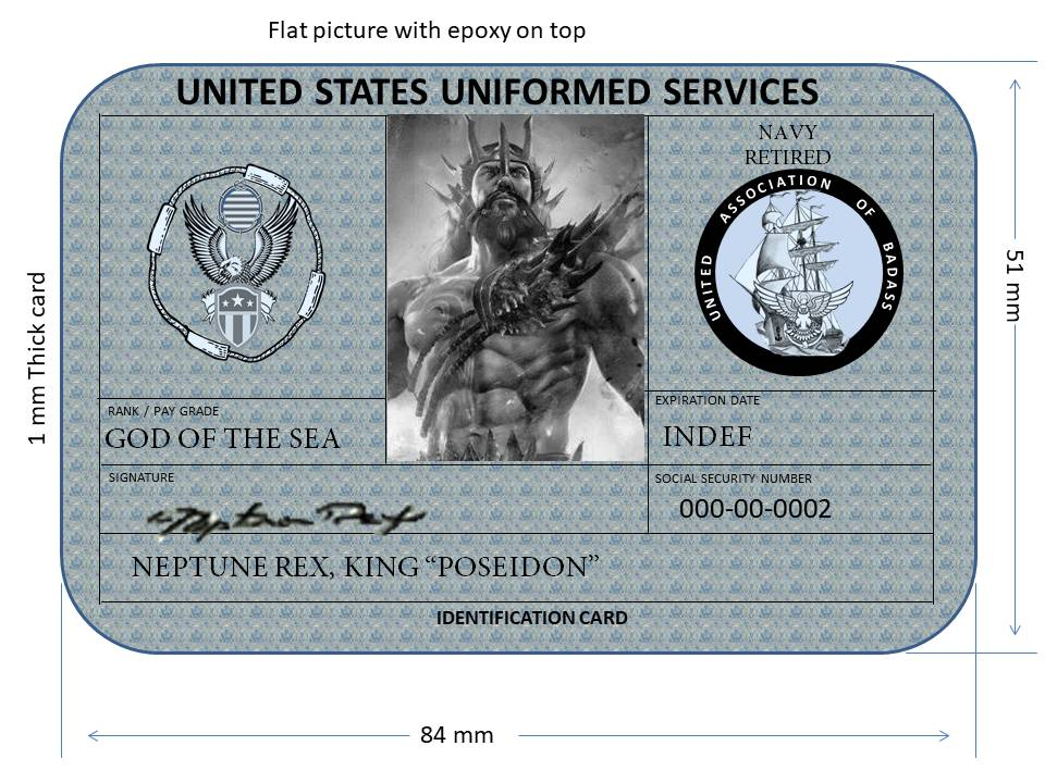 Famous ID Cards - King Neptune