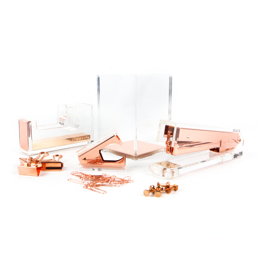 Rose Gold Acrylic Stationery Set