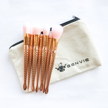 Rose Gold Mermaid Makeup Brush Set