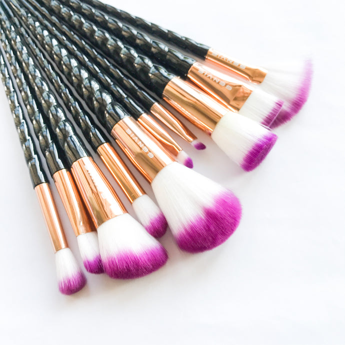 Black Unicorn Makeup Brush Set