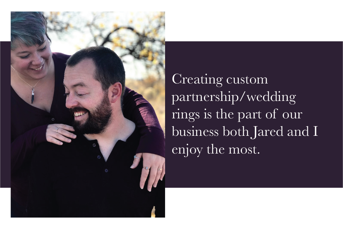 Jared and Jeana Rushton of The Fox and Stone, jewelry designers.