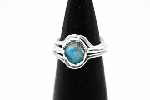 opal engagement ring fox and stone raw gemstone rings