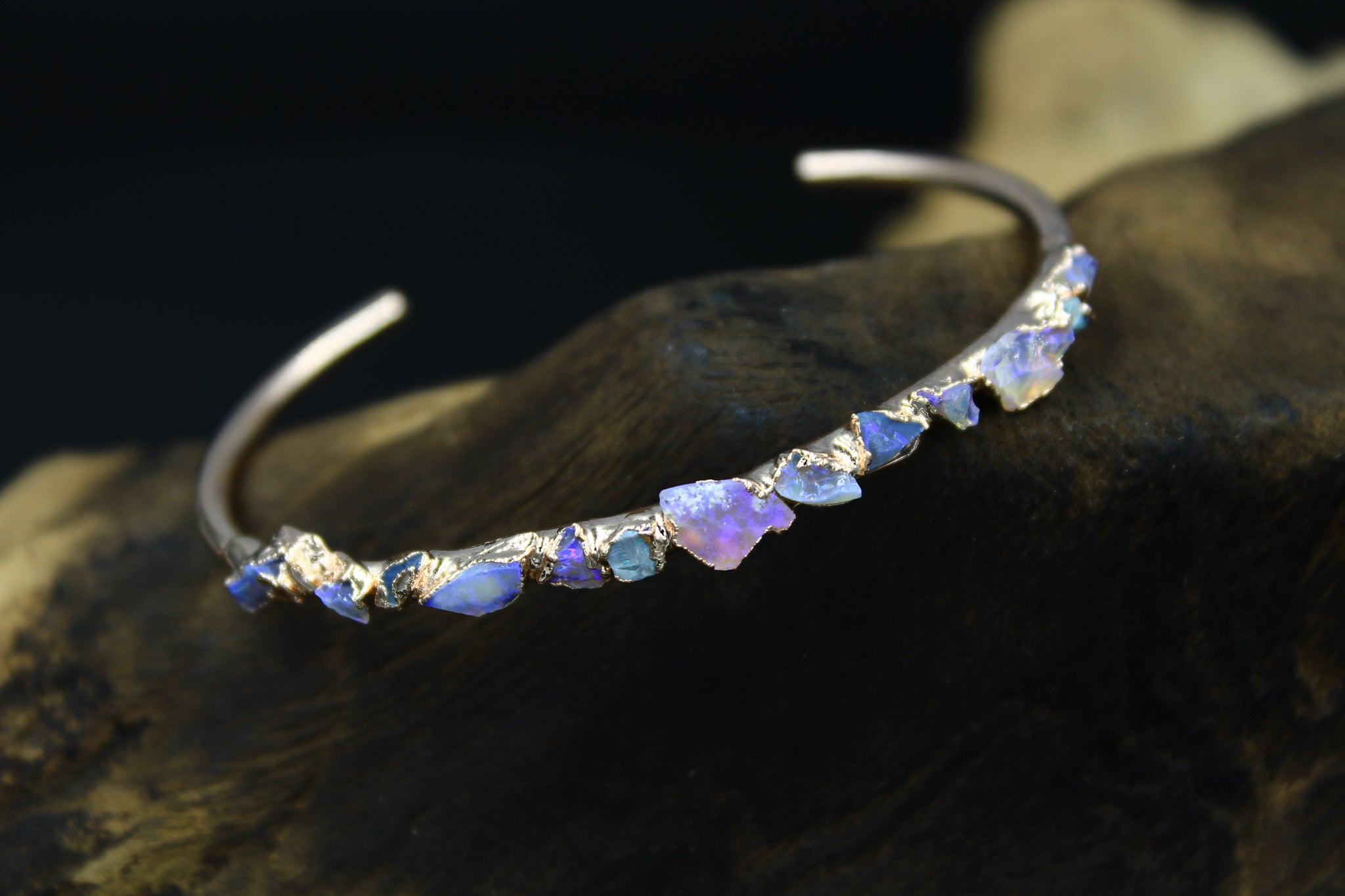 opal chip bracelet the foxandstone raw gemstone jewelry