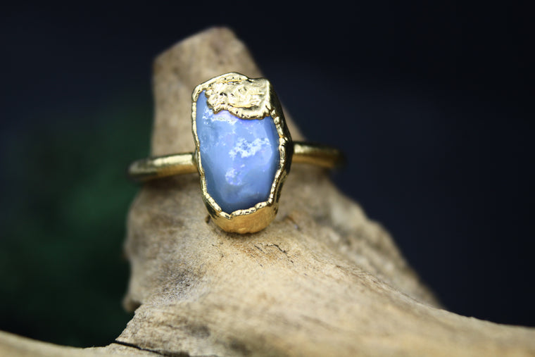 Australian Opal Ring in Yellow Gold II