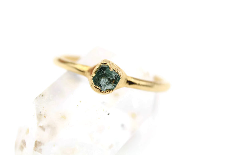 Natural Emerald Engagement Ring III