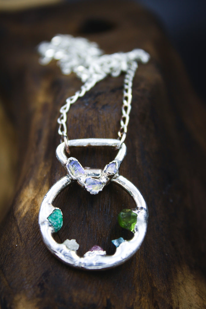 buzzfeed hannah williams raw crystal gemstone family birthstone necklace