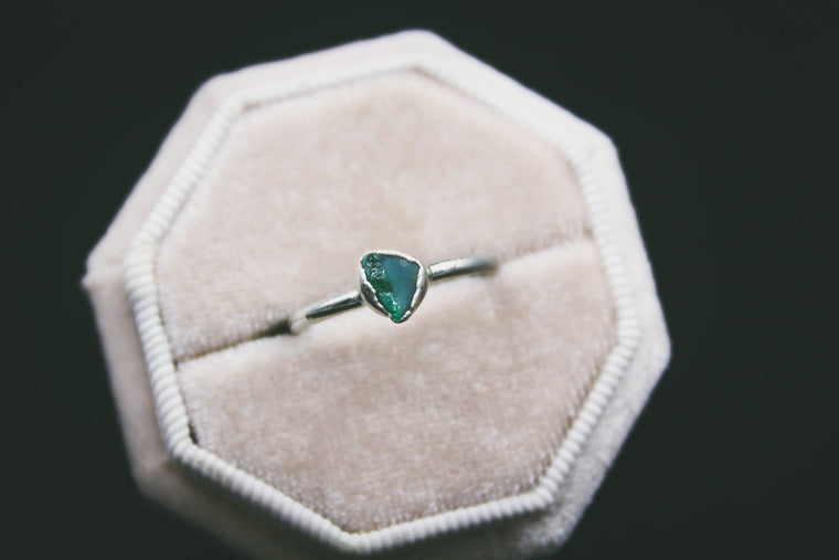 Blue Apatite Stacking Ring