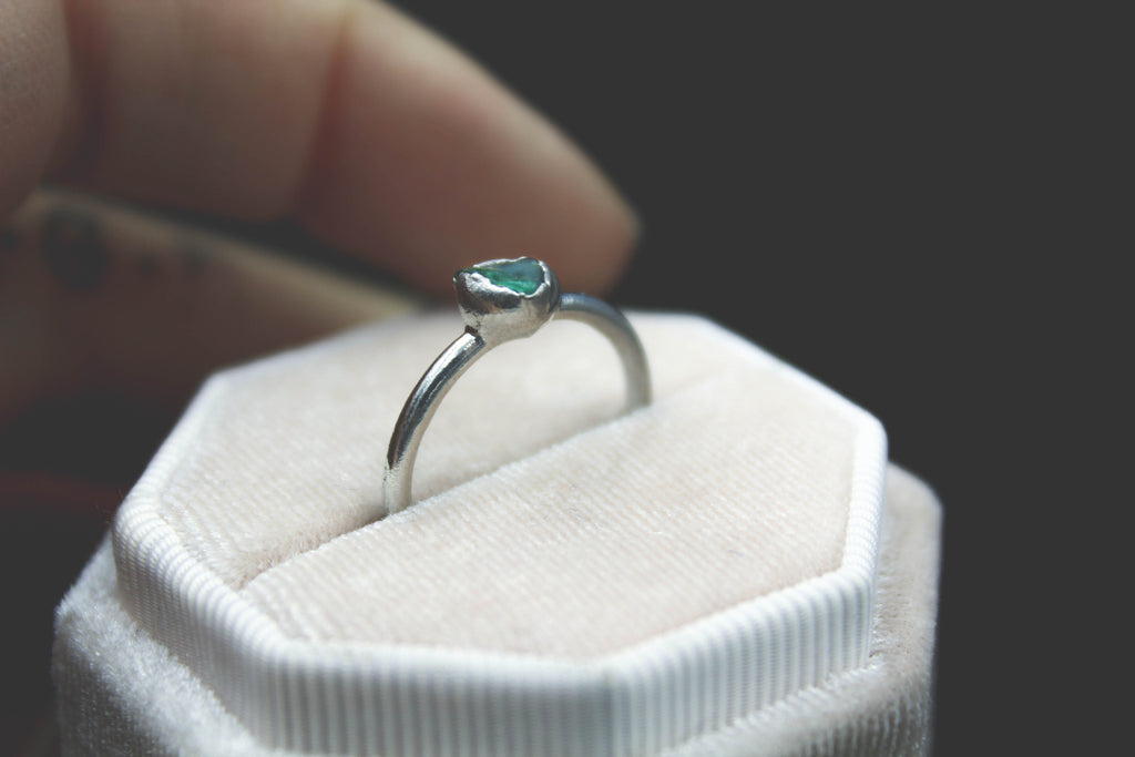 Blue Apatite Stacking Ring-The Fox And Stone