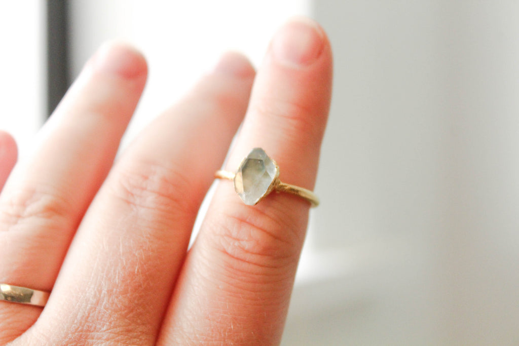 The Lady of Light Ring - The Fox And Stone Bohemian Jewelry Alternative Engagement Ring