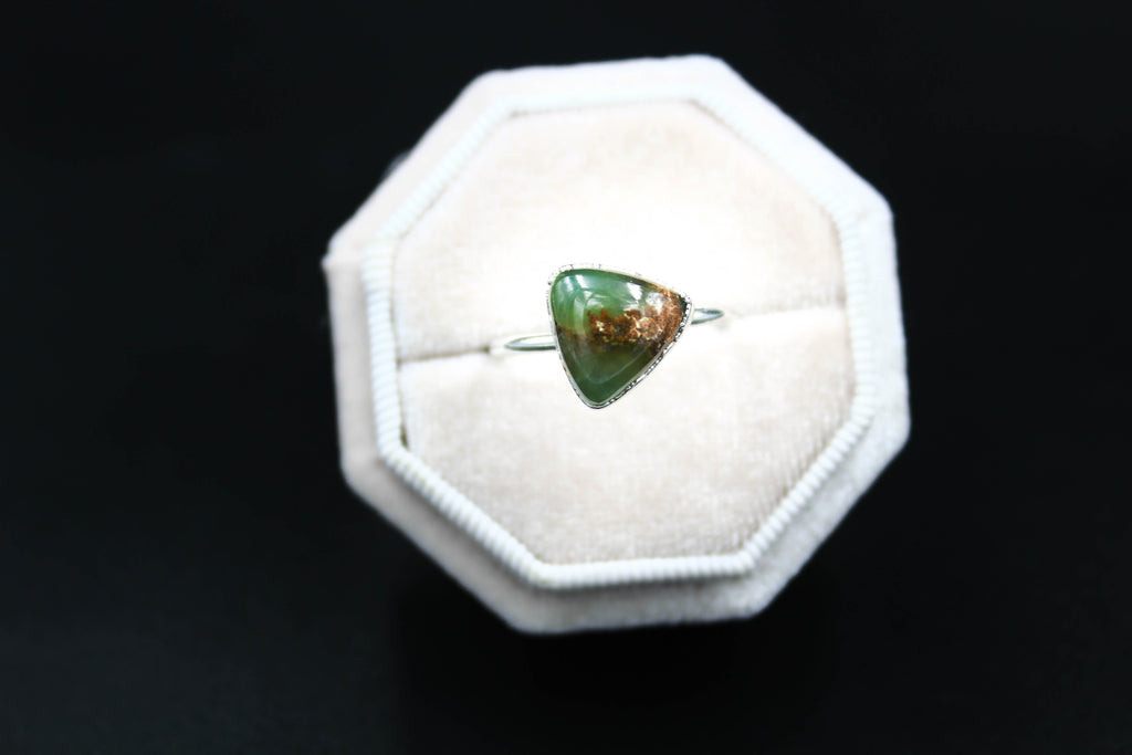 Chrysorase Ring in Rhodium-The Fox And Stone