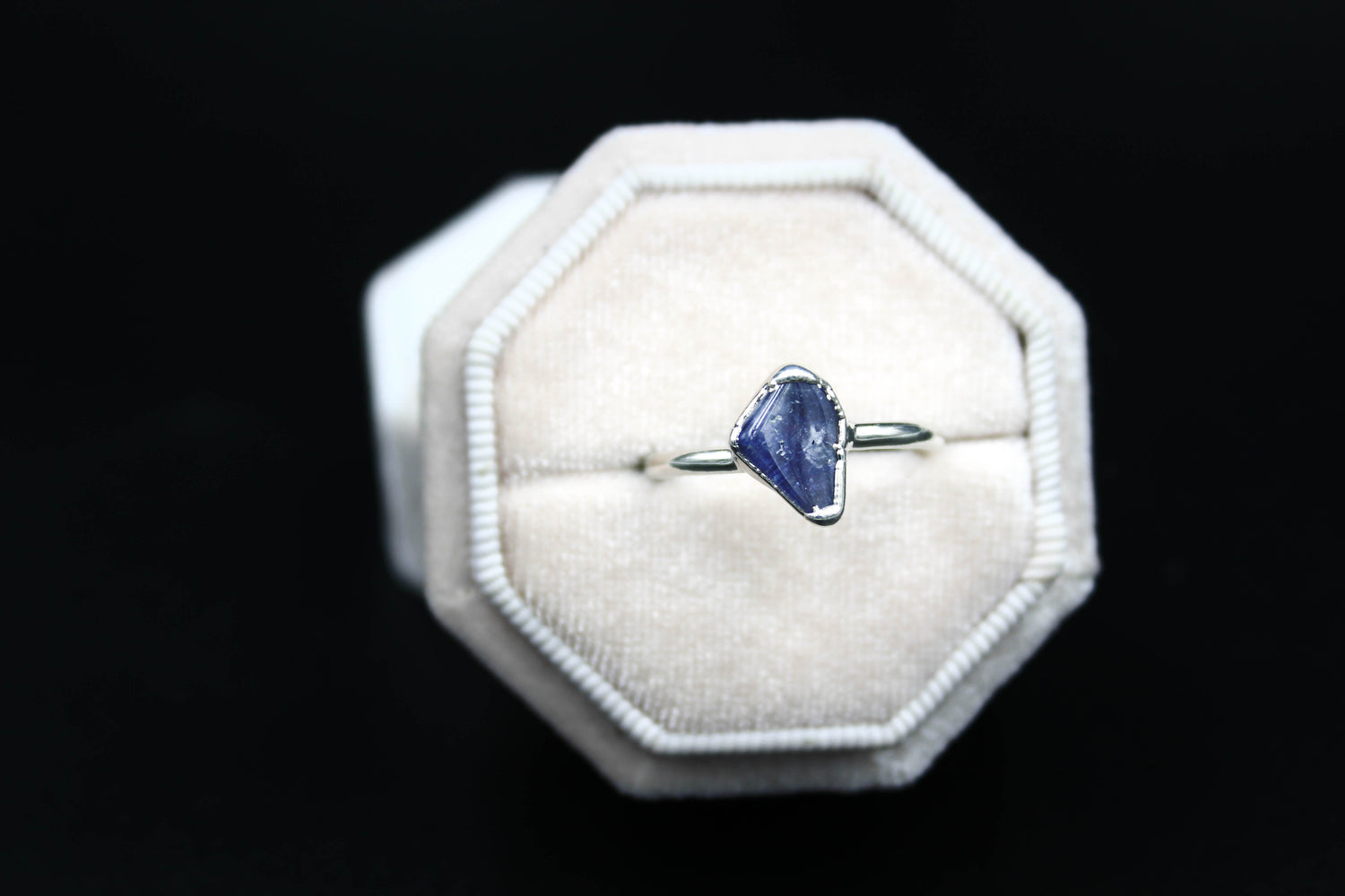 Tumbled Tanzanite Plated in Rhodium-The Fox And Stone