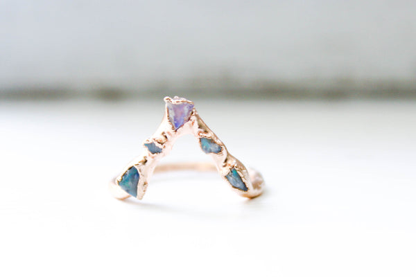The Opal Pyramid Ring
