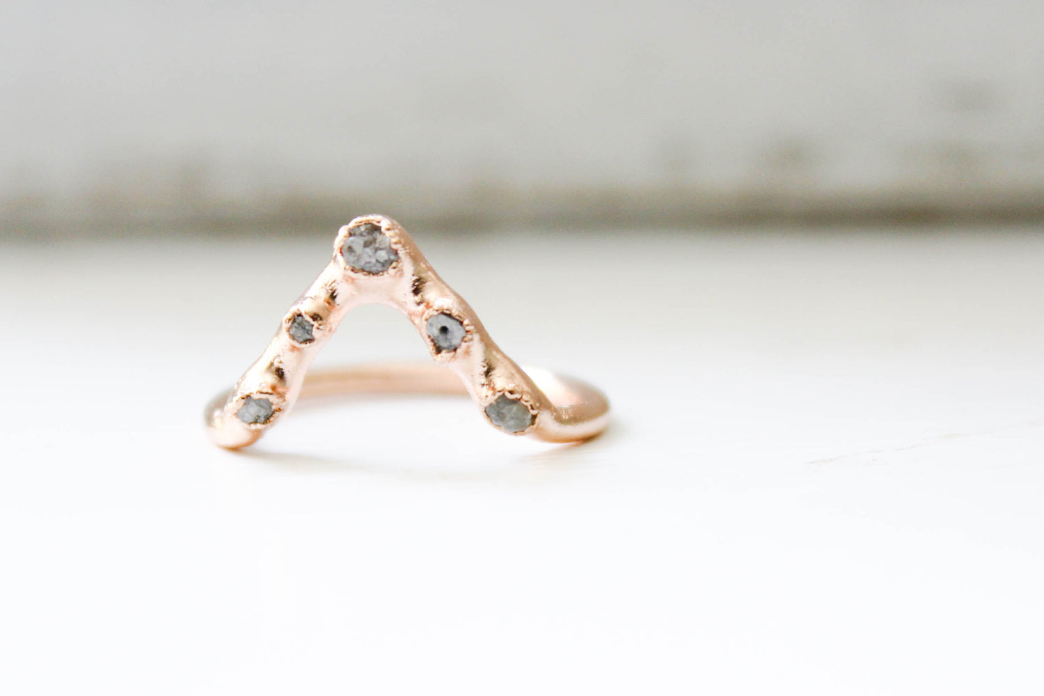 The Diamond Pyramid Ring - The Fox And Stone Bohemian Jewelry Alternative Engagement Ring