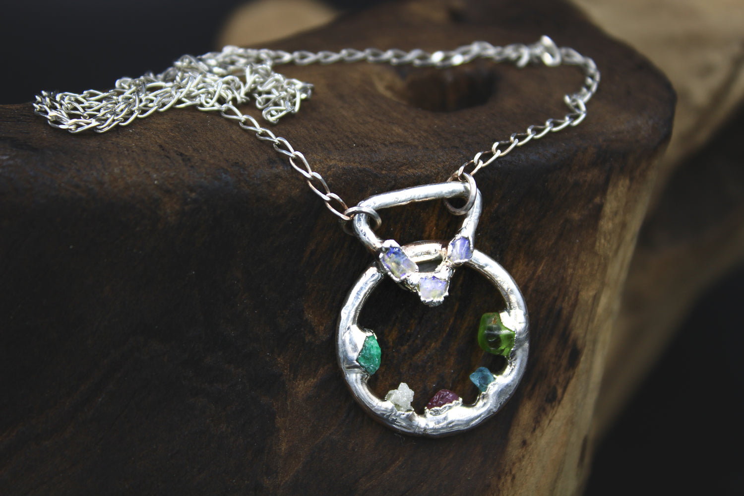 raw gemstone crystal birthstone necklace buzzfeed hannah williams fox&stone