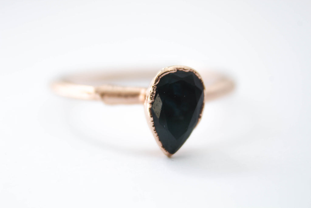 GEMSTONE RING, LONDON BLUE TOPAZ, ROSE GOLD