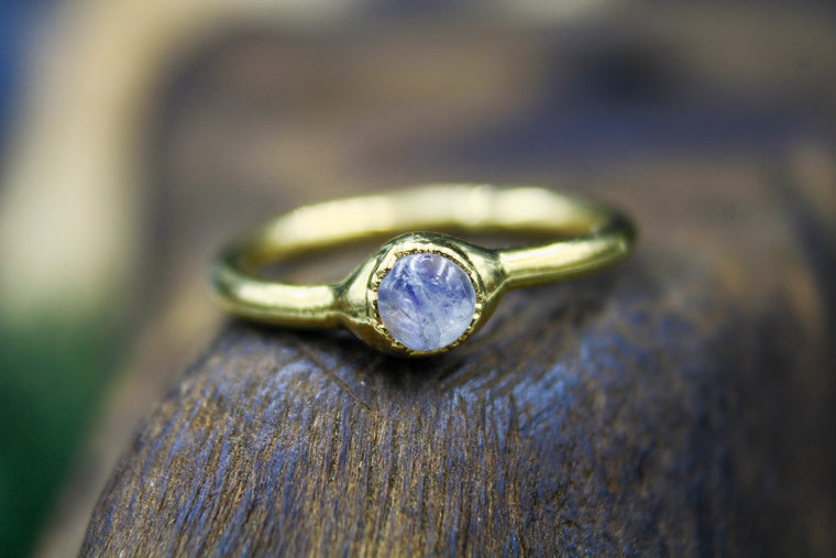 Moonstone Engagement Ring in Gold