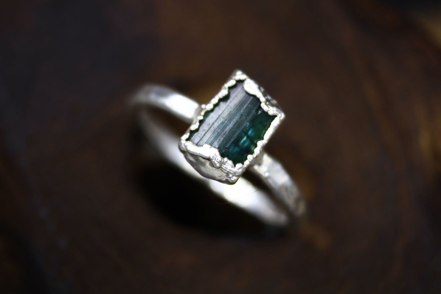 Green Verdelite Tourmaline Ring in Silver
