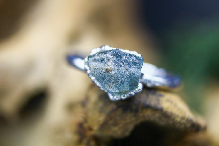 Ethical Natural Raw Diamond Engagement Ring