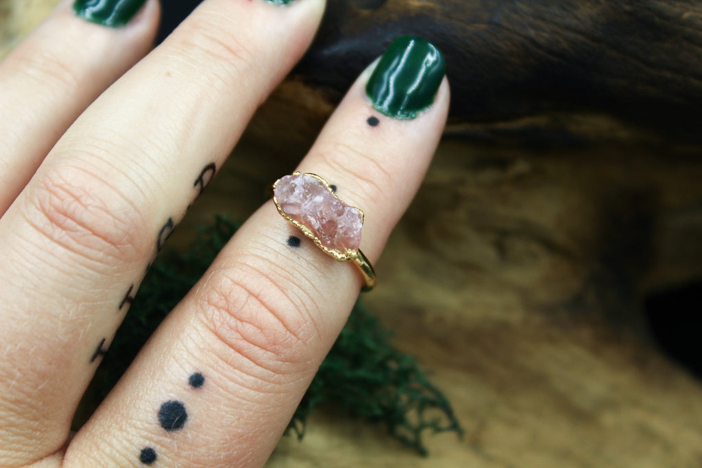 Morganite Ring in Yellow Gold