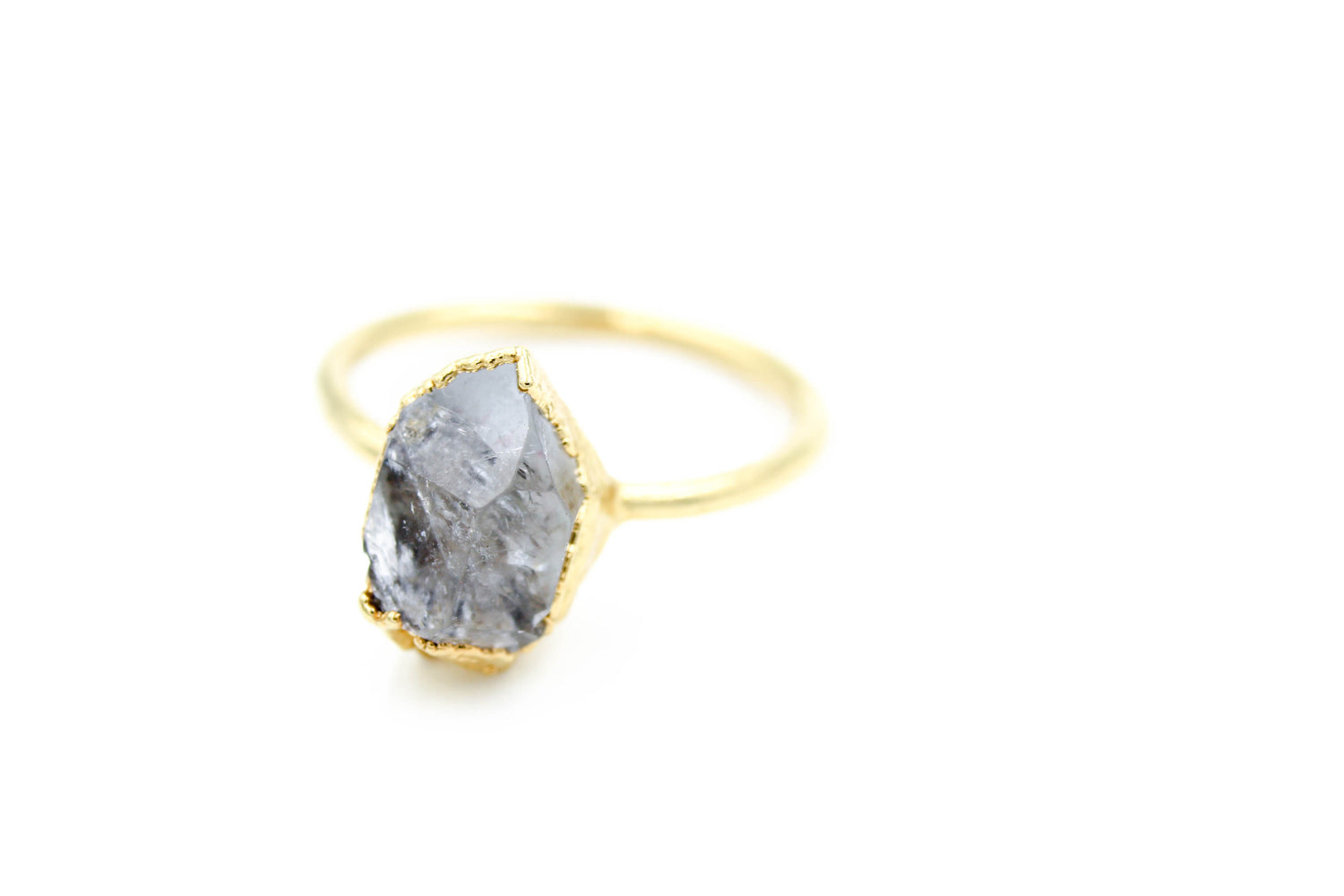 non traditional wedding ring Organic raw crystal and gemstone alternative engagement ring,
