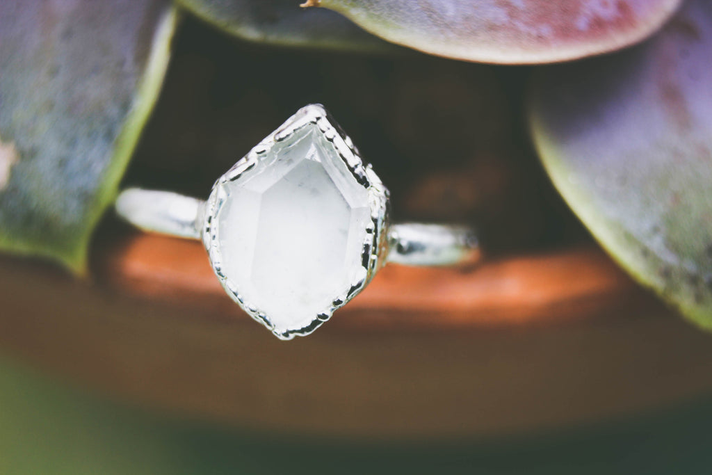 Herkimer Diamond Engagement Ring-The Fox And Stone