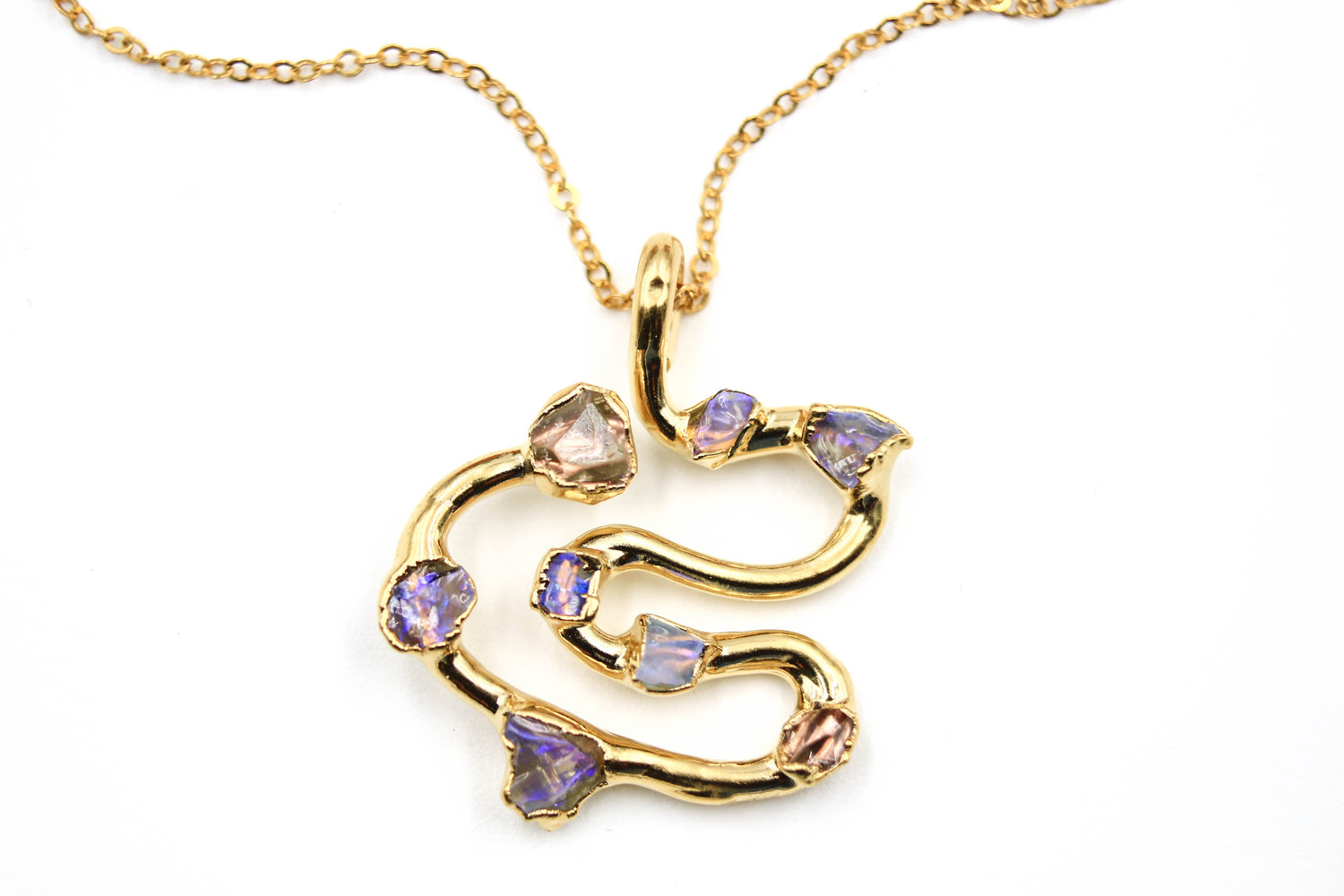 Australian Opal Swirl Necklace-The Fox And Stone