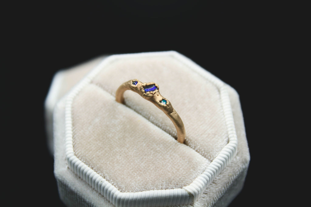 raw opal alternative engagement ring foxandstone