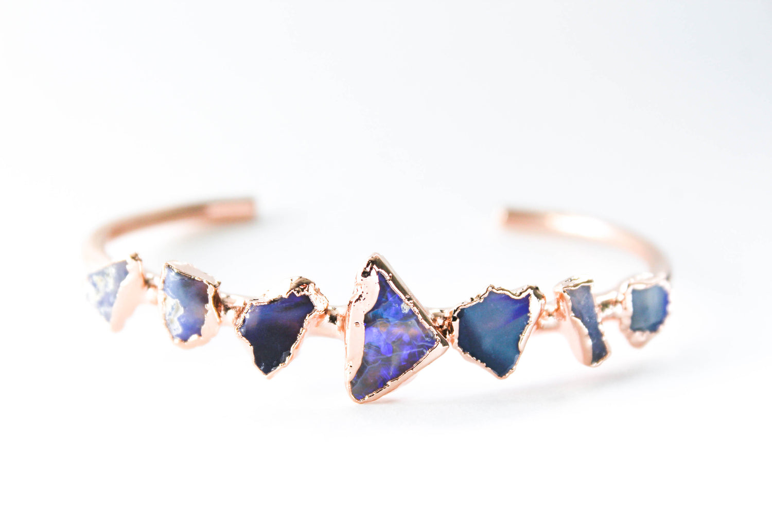 australian raw opal bangle bracelet by fox and stone bohemian crystals