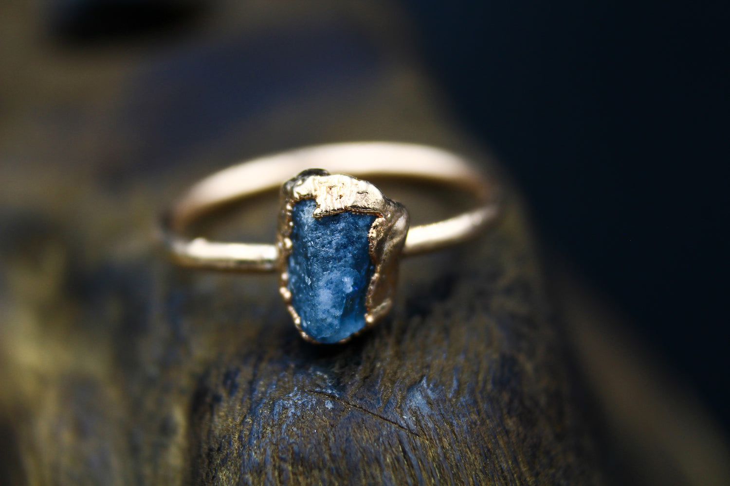 Aquamarine Ring in Rose Gold