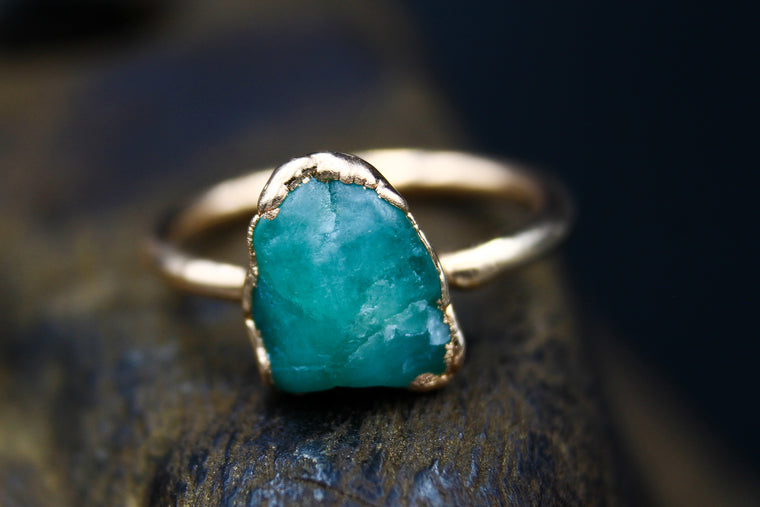 Emerald Ring in Rose Gold