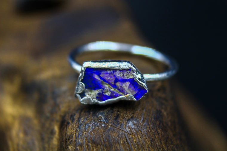 Australian Opal Ring in Rhodium