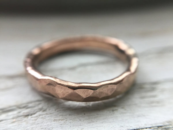 The Hammered Band - The Fox And Stone Bohemian Jewelry Alternative Engagement Ring