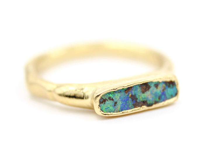 Boulder Opal Men's Wedding Band