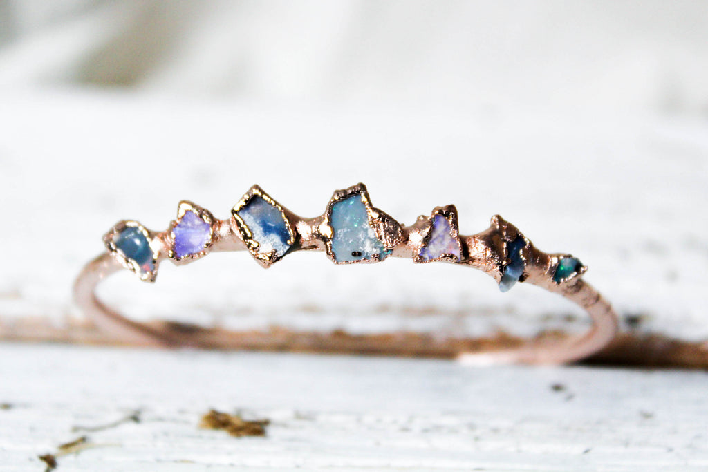 australian opal bangle bracelet by fox and stone bohemian crystals
