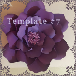 Paper Flower Template #7