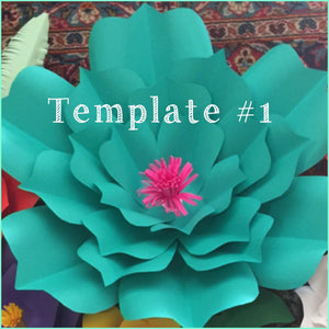 "paper flower template #1 - 23""size"