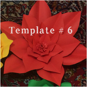 Paper Flower Template #6