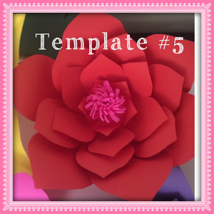 Paper Flower Template #5