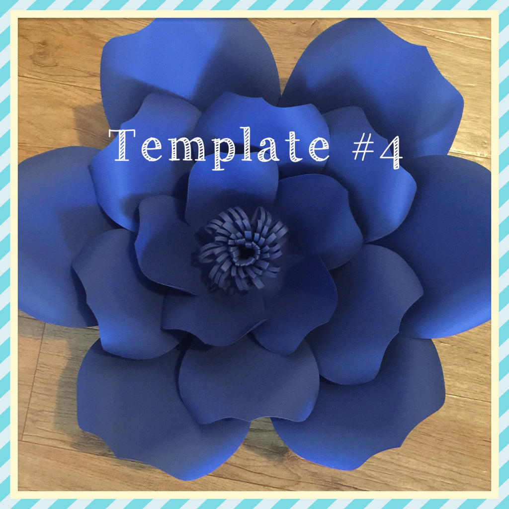 Paper Flower Template # 4