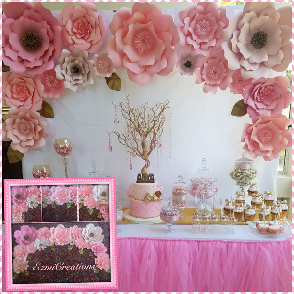 Diy paper flower kits ezmicreationspaperflowers pinks paper flower diy kit mightylinksfo Choice Image