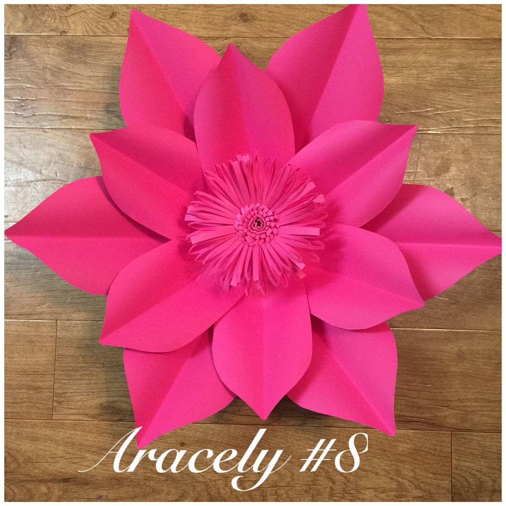 paper flower template #8