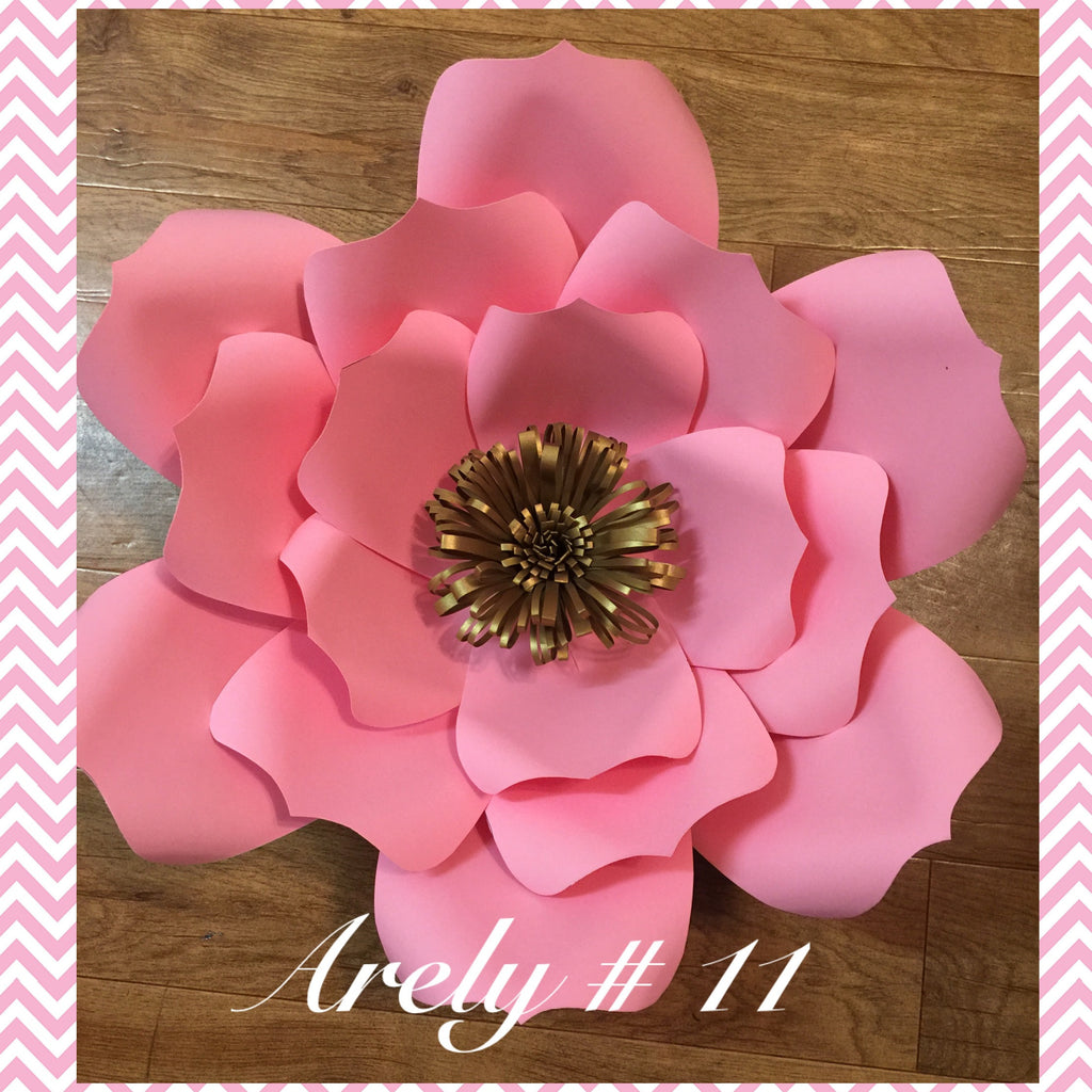 Paper flower template # 11