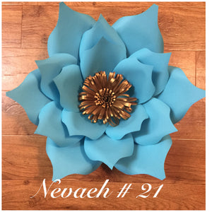 Paper flower template #21