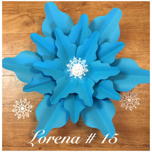 Paper flower template #15